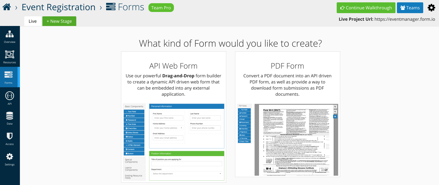 Form.io Help | Getting Started