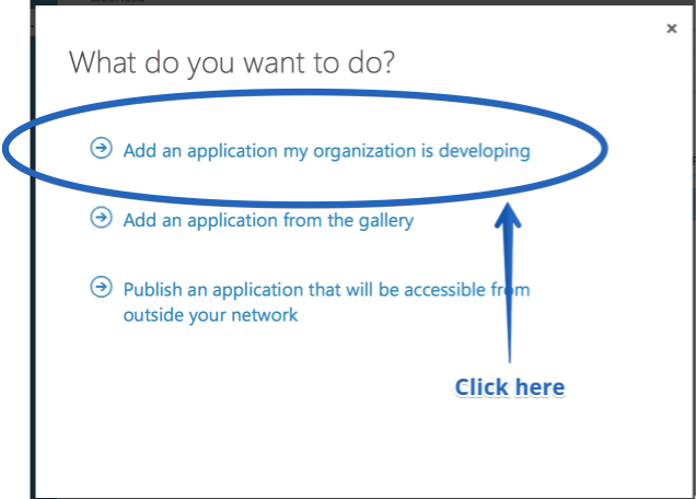 add an application my organization is developing