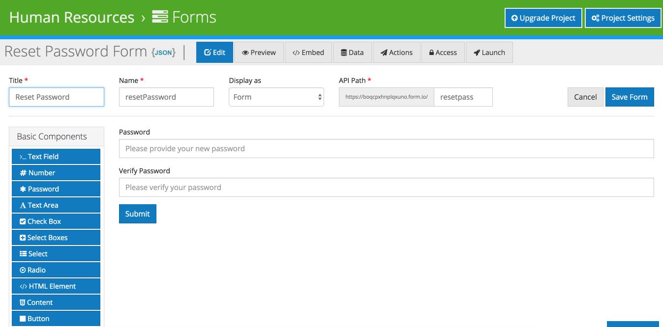 Form.io Help   Tutorials